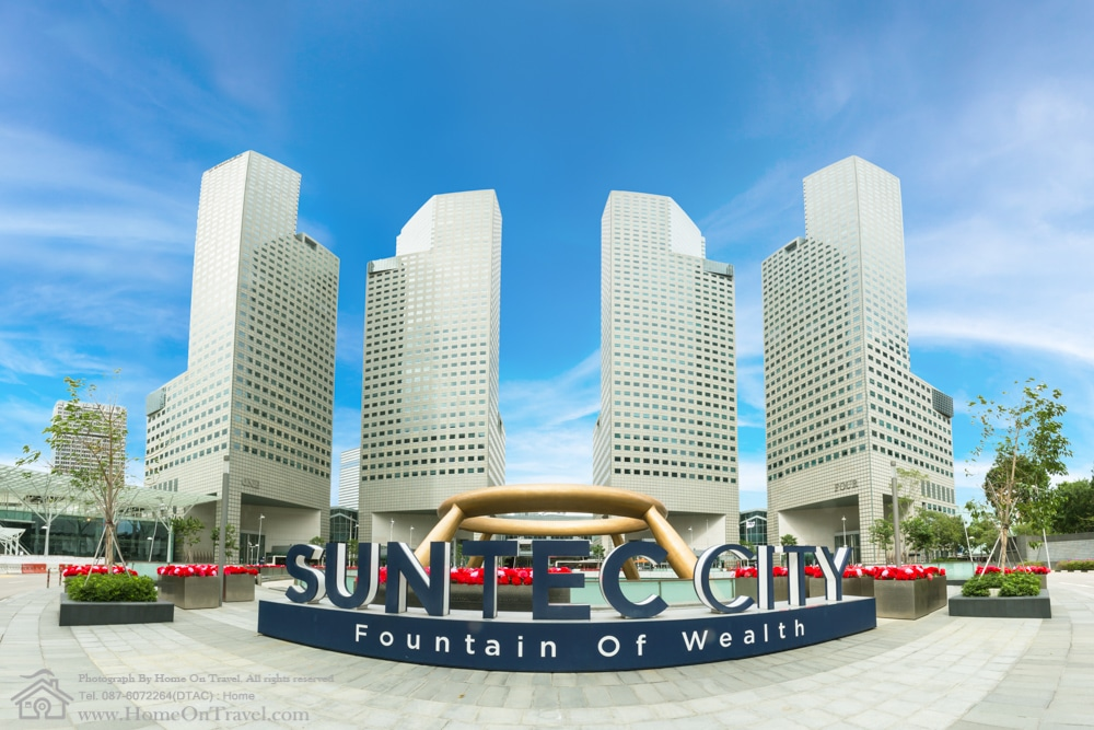 Home On Travel - Suntec City Towers with Fountain of Wealth in Singapore